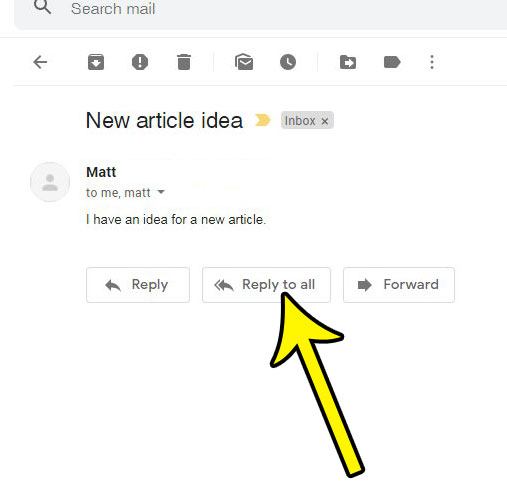 how to reply all in Gmail