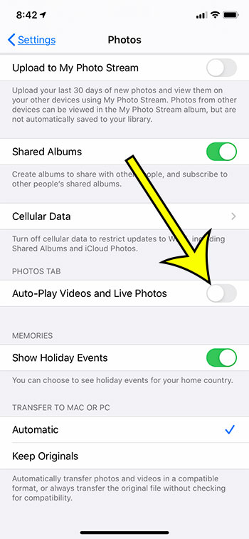 how to stop videos and Live photos from playing automatically on an iPhone