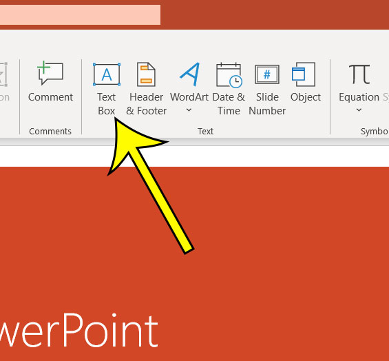 add a text box in Powerpoint