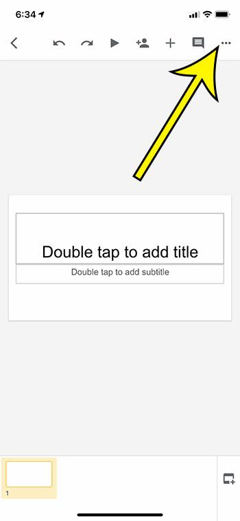 open the Google Slides menu