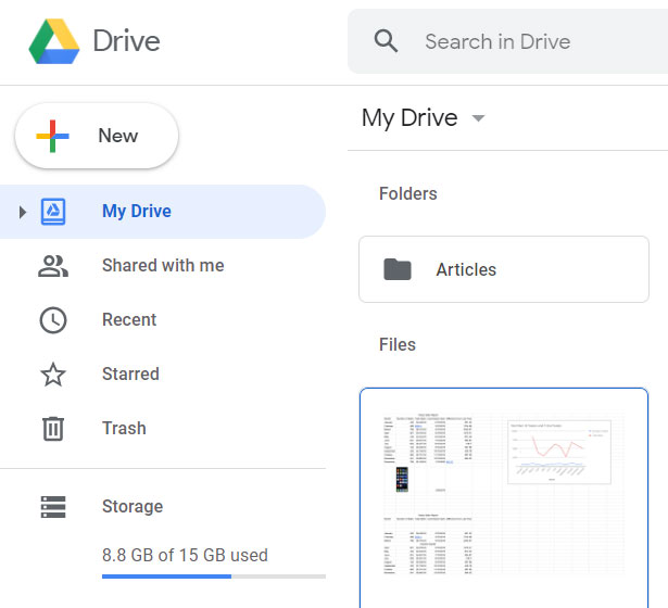 open your Sheets file in Google Drive