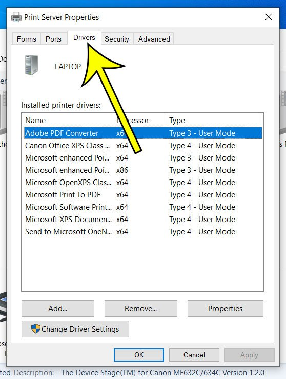 how to view installed printer drivers in Windows 10