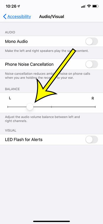 how to change the audio balance on an iPhone 11