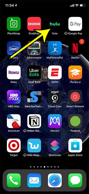 open the Hulu app