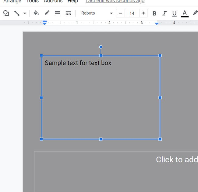 how to add a textbox in Google Slides